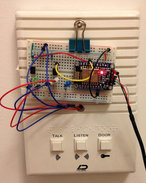 Photo of ESP8266 and Breadboard